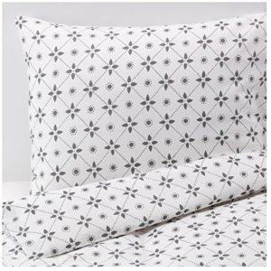 Traumhafte Bettwäsche aus Baumwolle - grau 220x240 von Ikea
