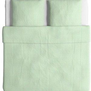 Kuschelige Bettwäsche aus Baumwolle - grün 220x240 von Ikea