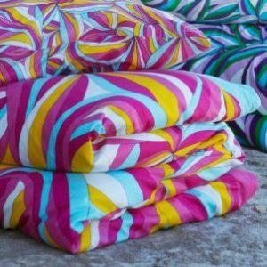 Kuschelige Bettwäsche aus Baumwolle - rosa 155x220 von Ikea