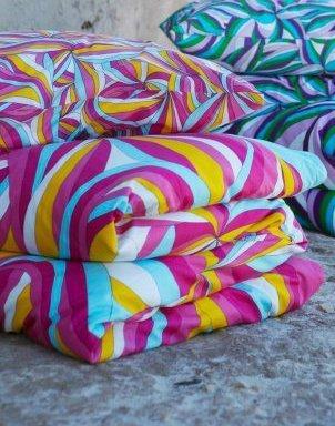 Hübsche Bettwäsche aus Baumwolle - rosa 220x240 von Ikea