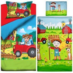 Traumhafte Bettwäsche aus Baumwolle - rot 100x135 von Aminata Kids