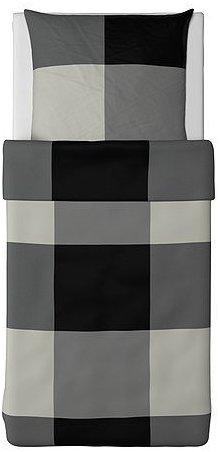 sch ne bettw sche aus baumwolle schwarz von ikea. Black Bedroom Furniture Sets. Home Design Ideas