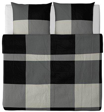 kuschelige bettw sche aus baumwolle schwarz von ikea. Black Bedroom Furniture Sets. Home Design Ideas