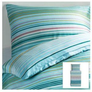 Kuschelige Bettwäsche aus Baumwolle - türkis 140x200 von Ikea