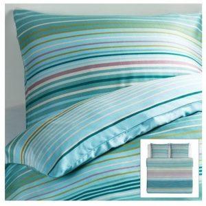 Hübsche Bettwäsche aus Baumwolle - türkis 220x240 von Ikea