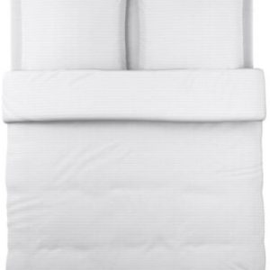 Hübsche Bettwäsche aus Baumwolle - weiß 220x240 von Ikea