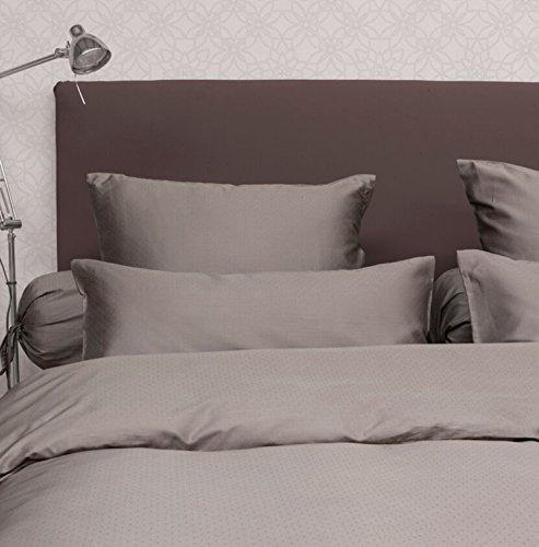 traumhafte bettw sche aus baumwollsatin grau 155x220 von. Black Bedroom Furniture Sets. Home Design Ideas