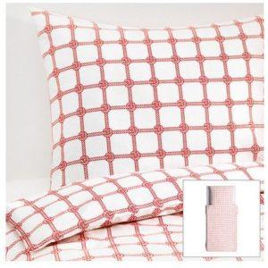 Hübsche Bettwäsche - rot 140x200 von Ikea