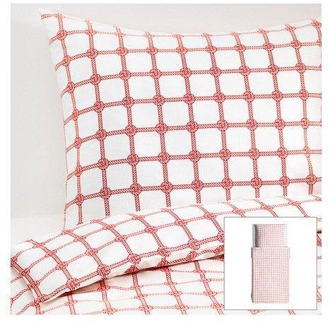 h bsche bettw sche rot 140x200 von ikea bettw sche. Black Bedroom Furniture Sets. Home Design Ideas