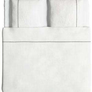Hübsche Bettwäsche aus Perkal - grau 220x240 von Ikea