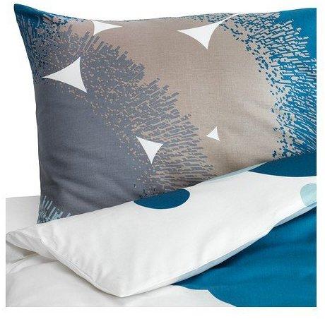Hübsche Bettwäsche aus Satin - blau 155x220 von Ikea