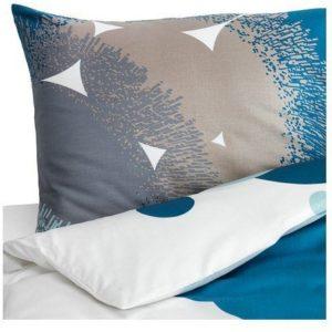 Schöne Bettwäsche aus Satin - blau 220x240 von Ikea
