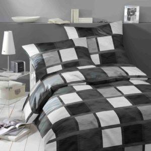 Traumhafte Bettwäsche aus Satin - schwarz 135x200 von Bruno Banani