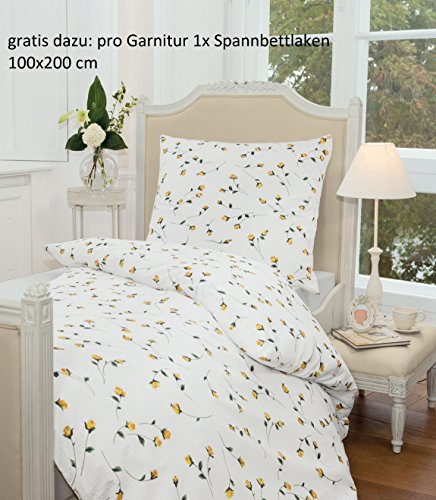 kuschelige bettw sche aus seersucker gelb 155x220 von janine design bettw sche. Black Bedroom Furniture Sets. Home Design Ideas