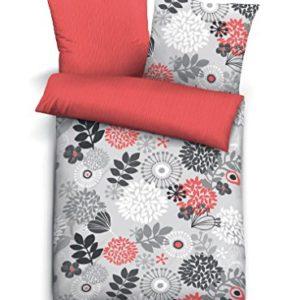 Traumhafte Bettwäsche aus Seersucker - rot 135x200 von Biberna