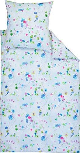 Hübsche Bettwäsche aus Batist - blau 135x200 von Estella Ateliers