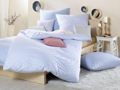 Traumhafte Bettwäsche aus Batist - blau 155x220 von Lorena Textil