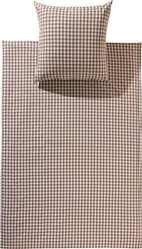 Hübsche Bettwäsche aus Batist - braun 135x200 von Brennet
