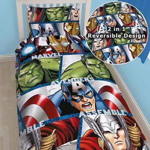 Kuschelige Bettwäsche aus Baumwolle - 135x200 von Marvel
