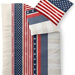 Schöne Bettwäsche aus Baumwolle - blau 155x220 von CelinaTex