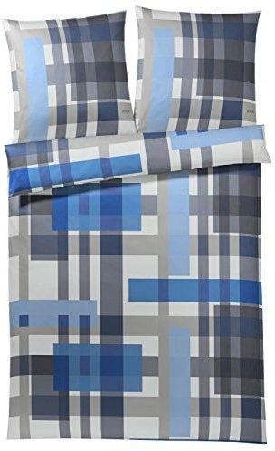 Kuschelige Bettwäsche aus Baumwolle - blau 155x220 von Joop!