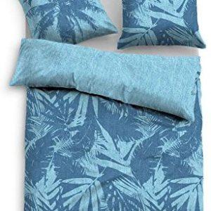 Hübsche Bettwäsche aus Baumwolle - blau 155x220 von TOM TAILOR