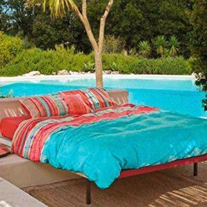 Schöne Bettwäsche aus Baumwolle - blau 220x240 von Bassetti