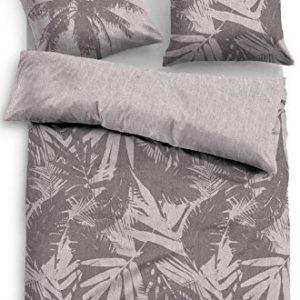 Schöne Bettwäsche aus Baumwolle - braun 135x200 von TOM TAILOR