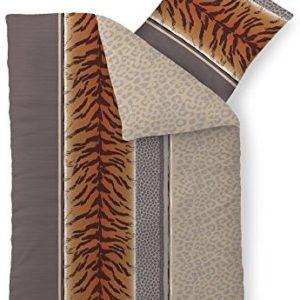 Traumhafte Bettwäsche aus Baumwolle - braun 155x220 von CelinaTex