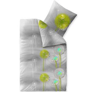 Schöne Bettwäsche aus Baumwolle - grau 155x200 von CelinaTex