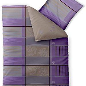 Kuschelige Bettwäsche aus Baumwolle - grau 155x220 von CelinaTex