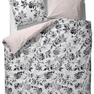 Kuschelige Bettwäsche aus Baumwolle - grau 155x220 von ESPRIT