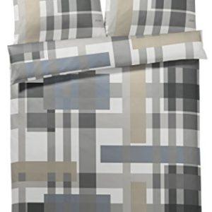 Kuschelige Bettwäsche aus Baumwolle - grau 155x220 von Joop!
