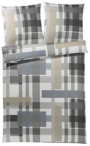 kuschelige bettw sche aus baumwolle grau 155x220 von. Black Bedroom Furniture Sets. Home Design Ideas