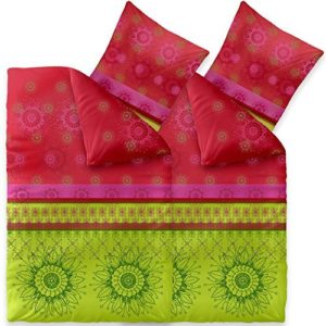 Kuschelige Bettwäsche aus Baumwolle - grün 135x200 von CelinaTex