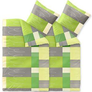 Hübsche Bettwäsche aus Baumwolle - grün 135x200 von CelinaTex