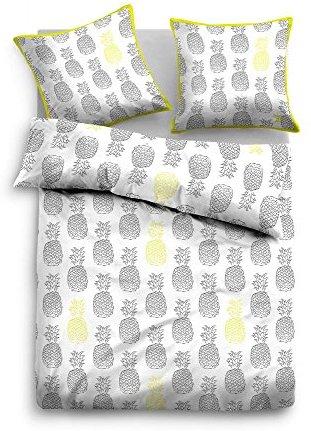 Schöne Bettwäsche aus Baumwolle - grün 135x200 von TOM TAILOR