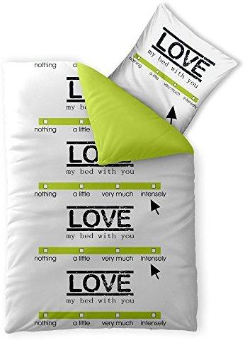 Traumhafte Bettwäsche aus Baumwolle - grün 155x200 von CelinaTex