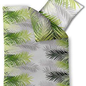 Schöne Bettwäsche aus Baumwolle - grün 155x220 von CelinaTex