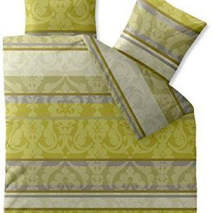 Traumhafte Bettwäsche aus Baumwolle - grün 200x220 von CelinaTex
