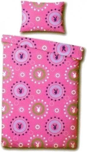 Traumhafte Bettwäsche aus Baumwolle - rosa 135x200 von Playboy