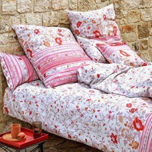 Schöne Bettwäsche aus Baumwolle - rosa 220x240 von Bassetti
