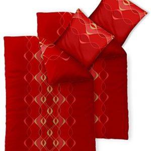 Hübsche Bettwäsche aus Baumwolle - rot 155x220 von CelinaTex