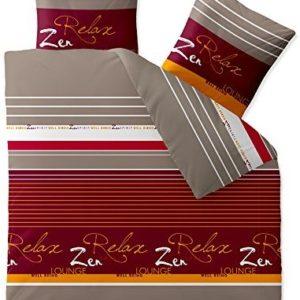 Schöne Bettwäsche aus Baumwolle - rot 200x220 von CelinaTex