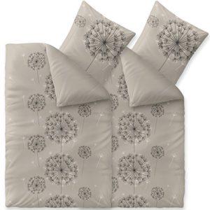Hübsche Bettwäsche aus Baumwolle - schwarz 135x200 von CelinaTex