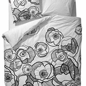 Hübsche Bettwäsche aus Baumwolle - schwarz 135x200 von ESPRIT