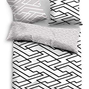 Traumhafte Bettwäsche aus Baumwolle - schwarz 135x200 von TOM TAILOR
