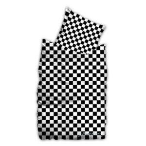 Kuschelige Bettwäsche aus Baumwolle - schwarz 140x200 von Suenos