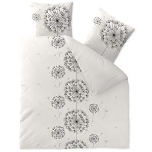 Schöne Bettwäsche aus Baumwolle - schwarz 200x200 von CelinaTex