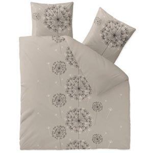 Hübsche Bettwäsche aus Baumwolle - schwarz 200x220 von CelinaTex